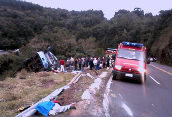 Das dez vítimas, sete morreram no local, inform a PRE. (William Batista/Difusora PG)