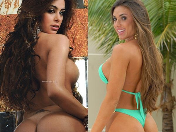As modelos Riquelme e Bahls serão atrações das lutas na RedeTV! (Foto: Divulgação)