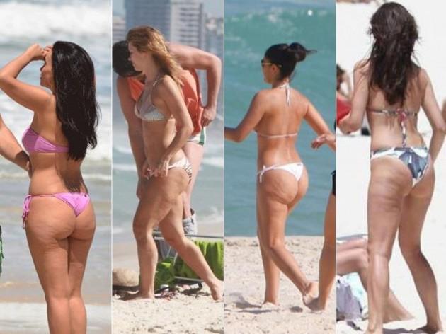 Suzana Pires, Carolina Dieckmann, Juliana Paes e Maria Fernanda Cândido na praia.