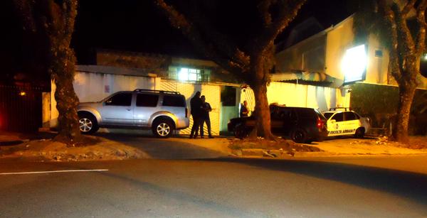 A empresa de vigilância que foi assaltada pela quadrilha. (Foto: Banda B)